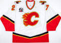 Hockey Collectibles:Uniforms, 2005-06 Mike LeClerc Game Worn Calgary Flames Jersey. ...