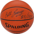 "Basketball Collectibles:Balls, Bill Russell Signed Leather ""Spalding"" NBA Basketball...."