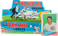 "Baseball Cards:Sets, 1961 Fleer ""Baseball Greats"" Counter Display Box and Card. ..."