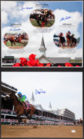 Miscellaneous Collectibles:General, Horse Racing Legends Signed Oversized Photographs Lot of 2 - AllKentucky Derby Winners....