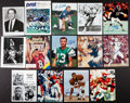Football Collectibles:Photos, Football Greats Signed Photographs Lot of 14. ...