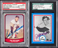 Baseball Cards:Autographs, Ted Williams and Joe DiMaggio Signed Cards Lot of 2. ...