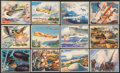 "Non-Sport Cards:Sets, 1939 R173 Gum Inc. ""The World In Arms"" Partial Set (29/48). ..."