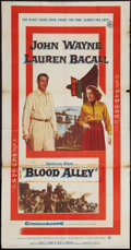 """Movie Posters:Action, Blood Alley (Warner Brothers, 1955). Three Sheet (41"""" X 77.5"""").Action.. ..."""