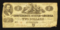 Confederate Notes:1862 Issues, T42 $2 1862 PF-5 Cr. UNL. . ...