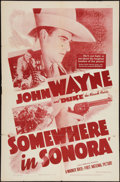 """Movie Posters:Western, Somewhere in Sonora (Warner Brothers - First National, R-Early 1940s). One Sheet (27"""" X 41""""). Western.. ..."""