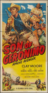 "Son of Geronimo: Apache Avenger (Columbia, 1952). Three Sheet (41"" X 80.5""). Serial"