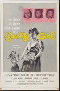 "Movie Posters:Bad Girl, Sorority Girl (American International, 1957). One Sheet (27"" X41""). Bad Girl.. ..."