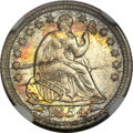Seated Half Dimes, 1854 H10C Arrows MS66+ NGC. CAC....