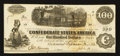 "Confederate Notes:1862 Issues, ""J(ohn) U(rquhart) A(nsley)"" T40 $100 1862 PF-4 Cr. UNL.. ..."