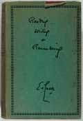 Books:Biography & Memoir, E. V. Lucas. Reading, Writing and Remembering. Methuen,1932. Second edition. Spine sunned and leaning. Toning a...