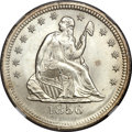 Seated Quarters, 1856 25C MS66 NGC....