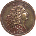 Large Cents, 1793 1C Wreath Cent, Vine and Bars MS63 Brown NGC. S-8, B-13,R.3....
