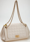 Luxury Accessories:Bags, Heritage Vintage: Chanel Quilted Lambskin Leather MetallicAccordion Bag. ...