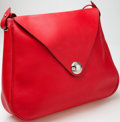 Luxury Accessories:Bags, Heritage Vintage: Hermes Rouge Garance Clemence Leather ChristineBag with Palladium Hardware. ...