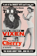 "Movie Posters:Sexploitation, Vixen! And Cherry Combo (Eve Productions, R-Early 1970s). One Sheet(27"" X 41""). Sexploitation.. ..."