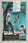 "Movie Posters:Exploitation, Wild Youth (Cinema Associates, Inc., 1960). One Sheet (27"" X 41""). Exploitation.. ..."