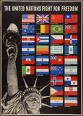 """Movie Posters:War, World War II Propaganda (U.S. Government Printing Office, 1942).Poster (40"""" X 56"""") OWI Poster No. 19 """"The United Nations Fi..."""