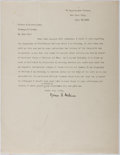 Autographs:Authors, Nelson F. Adkins (Writer). Typed Letter Signed. Very good....