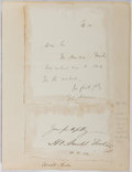 Autographs:Statesmen, Hugh Oakeley Arnold-Forster (1855-1909, British Writer andPolitician). Autograph Letter Signed. Very good....