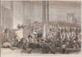 Prints, TRIAL OF JEFF DAVIS, MAY 13, 1867--MR. CHARLES O'CONOR MOVINGFOR HIS RELEASE. 19th century. 9-3/4 x 14 inches (...