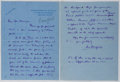Autographs:Authors, Louis Bromfield (1896-1956, American Writer). Autograph LetterSigned. Very good....