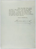 Autographs:Authors, Emerson Hough (1857-1923, American Writer). Typed Letter Signed. Very good....