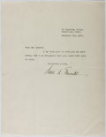 Autographs:Authors, Walter Edmunds (1903-1998, American Writer). Typed Letter Signed.Very good....