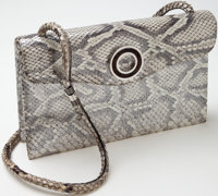 Heritage Vintage: Loewe Silver Metallic Python Evening Shoulder Bag