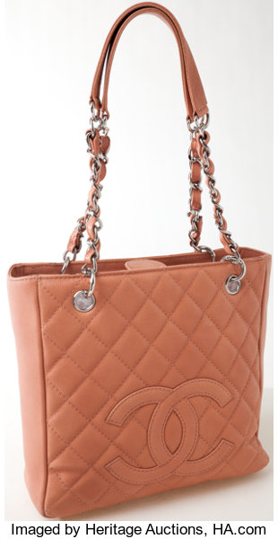310d7e95423d3e ... Luxury Accessories:Bags, Heritage Vintage: Chanel Blush Quilted Caviar  Leather PST PetiteShopper Tote ...