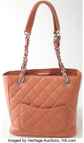 c821d3792d40 Heritage Vintage: Chanel Blush Quilted Caviar Leather PST | Lot #78004 |  Heritage Auctions