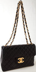 Luxury Accessories:Bags, Heritage Vintage: Chanel Black Quilted Lambskin Leather Maxi Flap Bag. ...