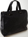 Luxury Accessories:Bags, Heritage Vintage: Donna Elissa Black Ostrich Tote Bag. ...
