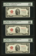 Small Size:Legal Tender Notes, Fr. 1508 $2 1928G Legal Tender Notes. Ten Consecutive Examples. PMG Gem Uncirculated 65 EPQ-66 EPQ.. ... (Total: 10 notes)
