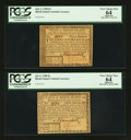 Colonial Notes:Rhode Island, Rhode Island July 2, 1780 $2 and $3 PCGS Apparent Very Choice New64.. ... (Total: 2 notes)