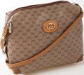 Luxury Accessories:Bags, Heritage Vintage: Gucci Tan Monogram Canvas and Leather Bag. ...