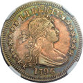 Early Quarters, 1796 25C AU53 NGC. CAC. B-1, R.4....