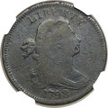 Large Cents, 1798 1C First Hair Style -- Corrosion -- NGC Details. Fine. NC-1,B-14, R.7....