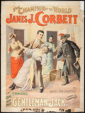 Entertainment Collectibles:Theatre, Heavyweight Champion Jim Corbett Theatrical Poster....