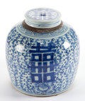 Asian:Chinese, A CHINESE CERAMIC GINGER JAR AND COVER . 20th century . 9-3/4inches high (24.8 cm). Elton Hyder III Collection Formerly a...