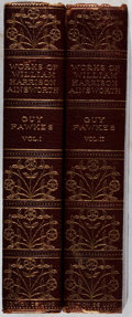 Books:Fine Bindings & Library Sets, [Fine Binding]. George Cruikshank [illustrator]. William Harrison Ainsworth. Guy Fawkes. Vol. I & II. Nottingham... (Total: 2 Items)