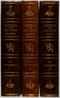 Books:Fine Bindings & Library Sets, [Fine Binding]. Snorre Sturlason. The Heimskringla: A History of the Norse Kings. Vol. I-III. Norroena Society, ... (Total: 3 Items)