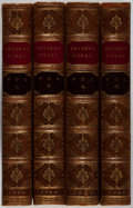 Books:Fine Bindings & Library Sets, [Fine Binding]. John Dryden. The Miscellaneous Works. Vol.I-IV. Tonson, 1760. Custom half calf. Toning and ligh... (Total: 4Items)