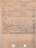 Political:Presidential Relics, John F. Kennedy: Funeral Home Death Certificate File Copy....