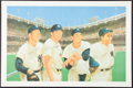Baseball Collectibles:Photos, New York Yankees Legends Multi Signed Lithograph....