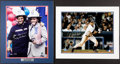 Baseball Collectibles:Photos, Torre/Giuliani and Jeter Signed Oversized Photographs Lot of 2 - Steiner....