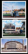 Baseball Collectibles:Others, New York Yankees Legends Unsigned Lithographs Lot of 3....