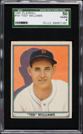 Baseball Cards:Singles (1940-1949), 1941 Play Ball Ted Williams #14 SGC 50 VG/EX 4....