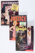 Pulps:Detective, Assorted Crime-Themed Digest Pulps Group (Various, 1954-55)....(Total: 7 Comic Books)