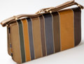 Luxury Accessories:Bags, Heritage Vintage: Renaud Pellegrino Striped Leather Bag. ...